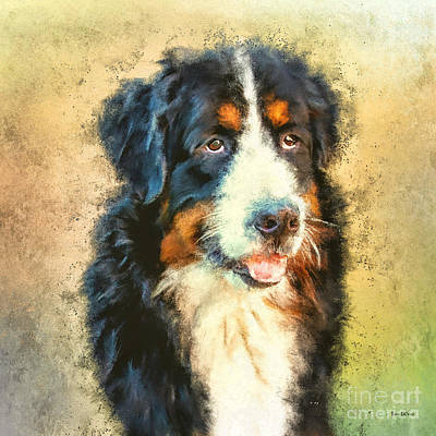 Digital Art - Adorable Doggie by Tina LeCour