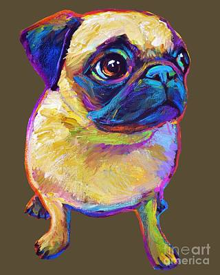 Painting - Adorable Pug by Robert Phelps