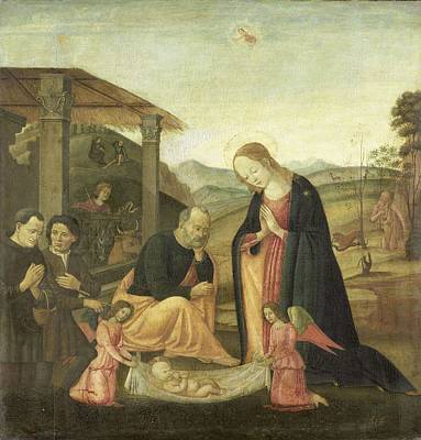 Painting - Adoration Of The Christ Child  Jacopo Del Sellaio  Circle Of 1485  1520 by R Muirhead Art