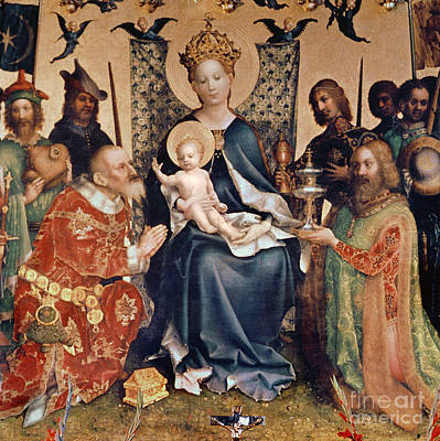 Child Jesus Painting - Adoration Of The Magi Altarpiece by Stephan Lochner