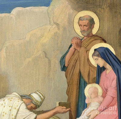Adoration Of The Magi Art Print by Hippolyte Flandrin