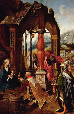 Wise Virgin Painting - Adoration Of The Magi by Jan de Beer