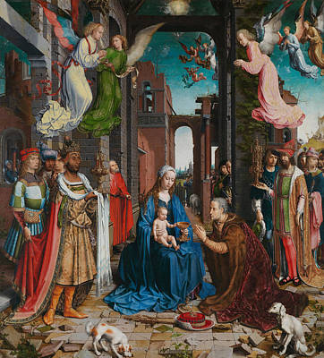 Adoration Of The Magi Print by Jan Gossaert