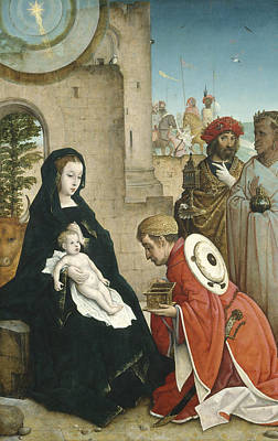 Gold Star Mother Painting - Adoration Of The Magi by Juan de Flandes