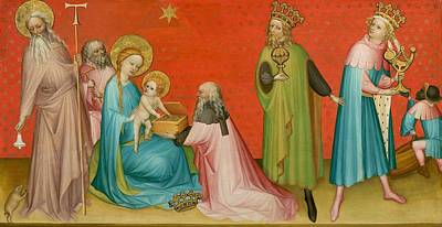 Abbot Painting - Adoration Of The Magi With Saint Anthony Abbot by Mountain Dreams