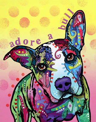 Pitbull Wall Art - Painting - Adoreabull by Dean Russo