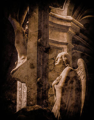 Photograph - Paris, France - Adoring Angel by Mark Forte