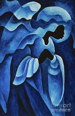Worship Art Painting - Adoring Angel by Patricia Brintle