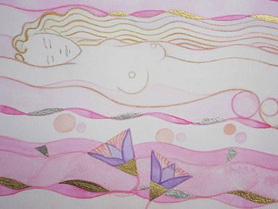 Adoring Hathor Detail Art Print