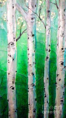 Painting - Aspen Grove by Renee Womack