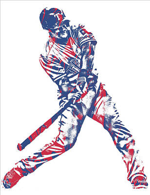 Adrian Beltre Texas Rangers Pixel Art 2 Art Print