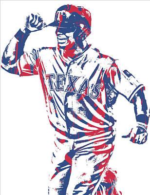 Adrian Beltre Texas Rangers Pixel Art 4 Art Print