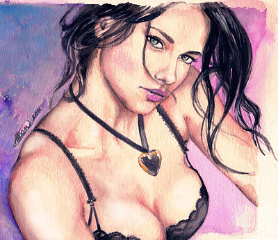 Painting - Adriana Lima by Alban Dizdari