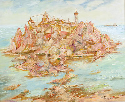 Painting - Adriatic Afternoon. Triptych by Maya Gusarina