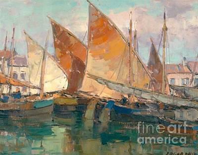 Edgar Payne Painting - Adriatic Boats by Edgar Payne