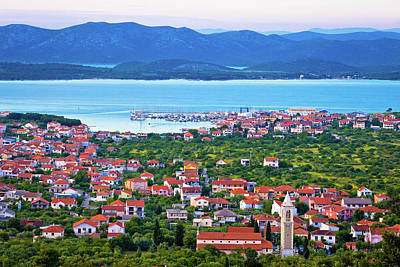 Photograph - Adriatic Town Of Murter Bay Aerial View by Brch Photography