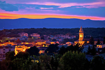 Photograph - Adriatic Town Of Pakostane Evening View by Brch Photography