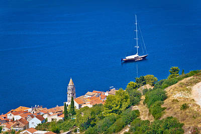 Photograph - Adriatic Town Of Vis Sailing Destination Waterfront by Brch Photography