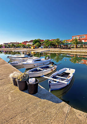Photograph - Adriatic Village Of Bibinje Colorful Waterfront Vertical View by Brch Photography