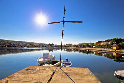 Photograph - Adriatic Village Of Bibinje Colorful Waterfront View by Brch Photography