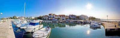 Winter Animals Royalty Free Images - Adriatic village of Diklo panoramic view Royalty-Free Image by Brch Photography