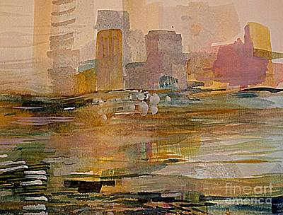 Painting - Adrift 2 by Nancy Kane Chapman