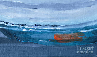 Abstract Paint Painting - Adrift by Edward Fielding