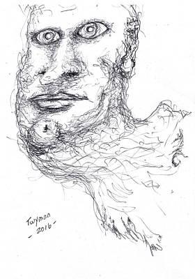 Drawing - Adrift by Dan Twyman