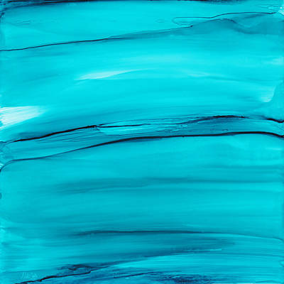 Focal Painting - Adrift In A Sea Of Blues Abstract by Nikki Marie Smith