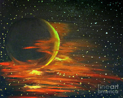 Painting - Adrift - In Space by Isabella F Abbie Shores