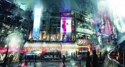 Skyline Digital Art - Adrift by Super Lovely