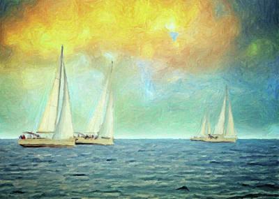 Painting - Adrift by Taylan Apukovska