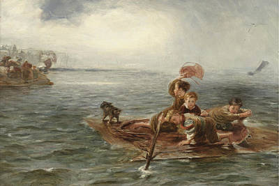 William Mctaggart Painting - Adrift by William McTaggart