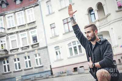 Photograph - Adult Man In A Fitness Training Outside. by Michal Bednarek