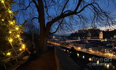 Photograph - advent evening in Salzburg by Rudi Prott