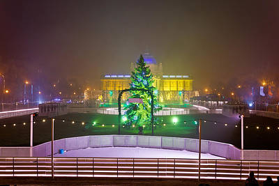Photograph - Advent Time Zagreb Evening View by Brch Photography