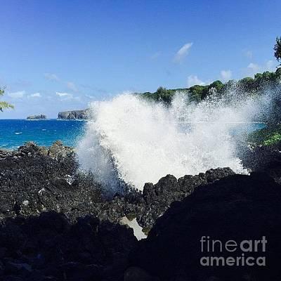 Photograph - #adventure #aloha #keanae #blowhole by Sharon Mau
