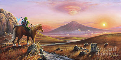 Spirit Horse Painting - Adventure Awaits by Joe Mandrick