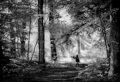 Photograph - Adventure Black And White by Rick Mosher