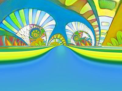 Digital Art - Adventure Highway by Nancy Pauling