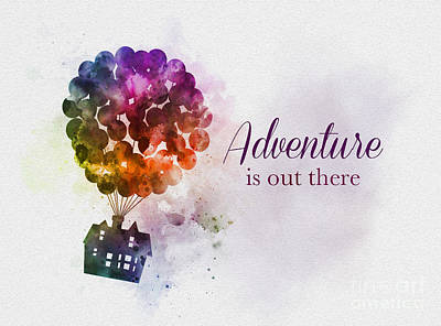 Mixed Media - Adventure Is Out There by Rebecca Jenkins