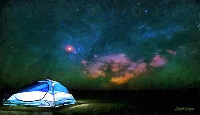 Tent Painting - Adventure Under The Sky - Pa by Leonardo Digenio