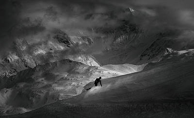 Skiing Photograph - Adventure With Concerns by Peter Svoboda