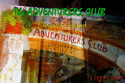 Mixed Media - Adventurers Club  by David Lee Thompson