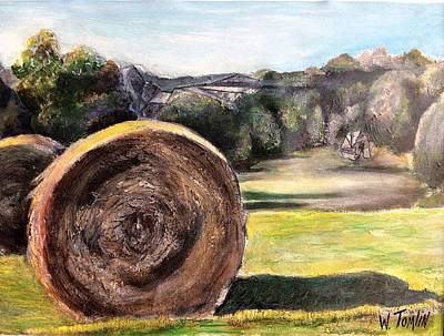 Haybale Painting - Adventures Await by Whitney Tomlin