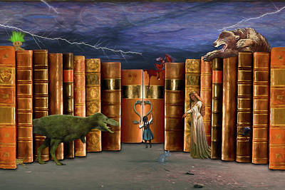 Digital Art - Adventures In Reading by John Haldane
