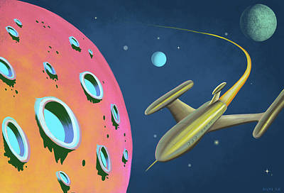 Adventures In Space Art Print
