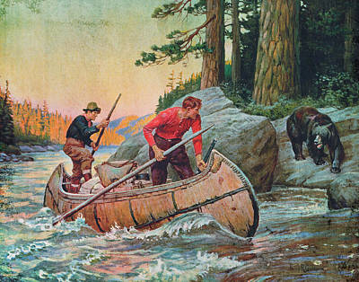 Canoe Painting - Adventures On The Nipigon by JQ Licensing