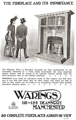 Grate Drawing - Advertisement For An Early 20th Century by Vintage Design Pics