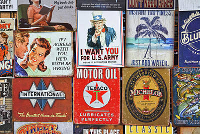 Photograph - Advertising Signs Display by Stuart Litoff
